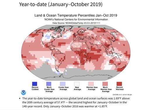 Earth is headed for its second warmest year in recorded history