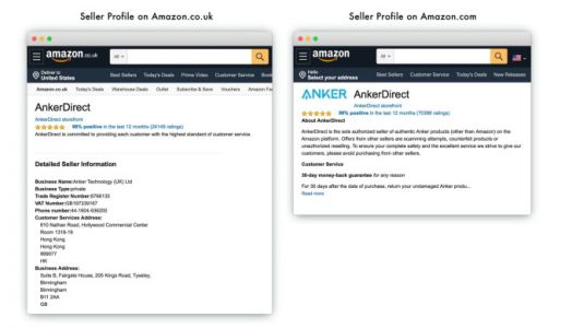 Amazon U.S. sellers will have to display their name and address starting Sept. 1, 2020