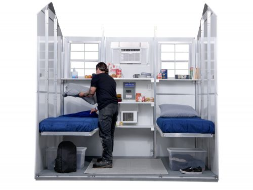 A Washington company is creating $5,000 prefab tiny homes that can be setup in 30 minutes to help solve the homelessness crisis - see how it works