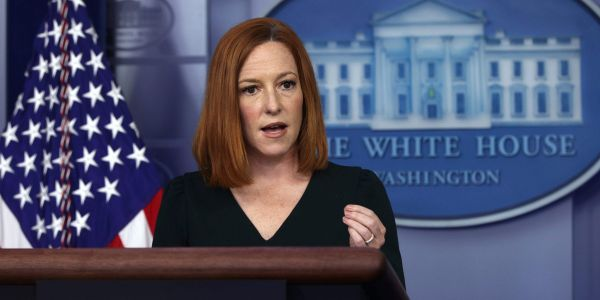 Psaki says the White House won't reveal how many vaccinated staffers have tested positive for COVID-19