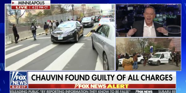 Fox News host Greg Gutfeld says he was 'glad' about the Derek Chauvin verdict 'even if he might not be guilty of all charges' because 'my neighborhood was looted'