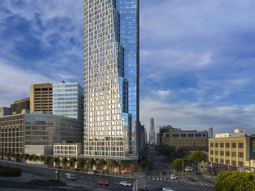 A new San Francisco high-rise is now leasing apartments that start at $3,500 in what's being called the city's new neighborhood. Here's what the tower will look like