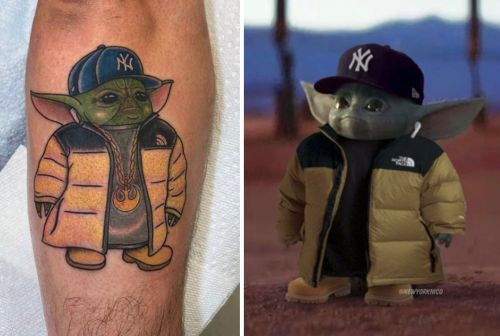 A man who got a 'Baby Yoda' meme tattoo explains what led him to that decision