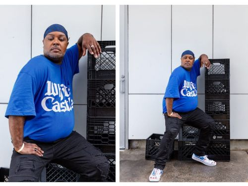 A fashion brand designed a 100th anniversary uniform for White Castle including t-shirts and durags