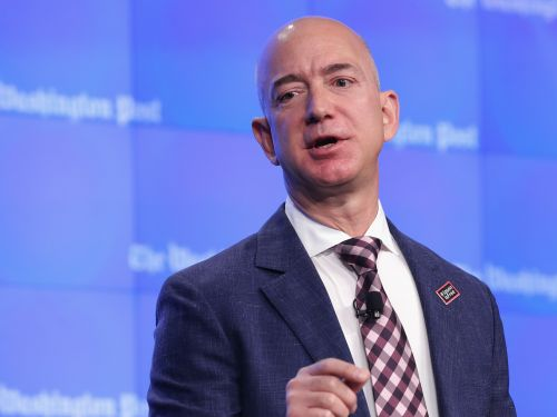 Jeff Bezos visited an Amazon warehouse and a Whole Foods to thank employees who are working during the coronavirus crisis