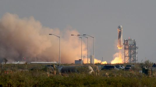 Liftoff! Jeff Bezos And Three Crewmates Travel To Space And Back In Under 15 Minutes