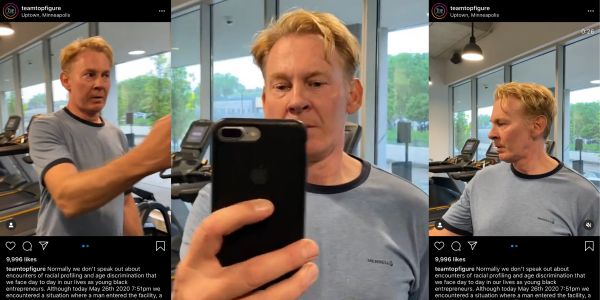 A white man threatened to call the police on a group of black men in a Minneapolis gym, and a video of the incident is trending