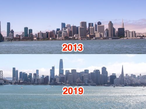 Photos show how San Francisco's new buildings built in the last decade have permanently changed the city