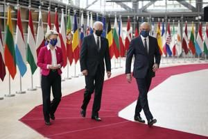 The Latest: EU leaders back Biden on response to Russia