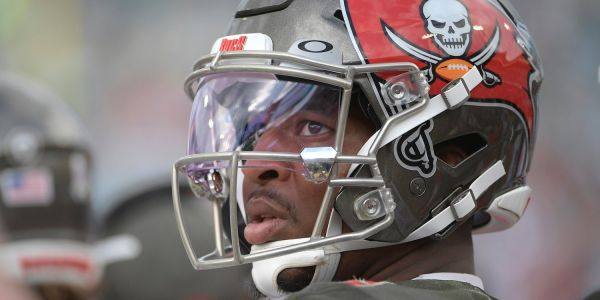 Jameis Winston threw his 21st interception of the season on his first pass attempt of the day