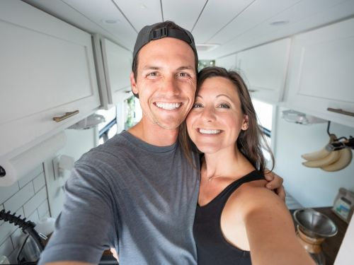 A Tennessee couple bought a sprinter van for $40,000 to travel across the US during the pandemic. Take a look inside their tiny home, which doubles as their office