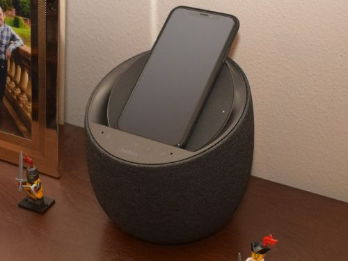 Belkin's new smart speaker combines high-end audio, Google Assistant support, and wireless phone charging into one handy package