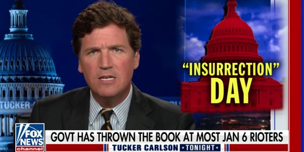 Tucker Carlson baselessly claims 'FBI operatives were organizing the attack on the Capitol,' his latest whitewashing of Jan. 6