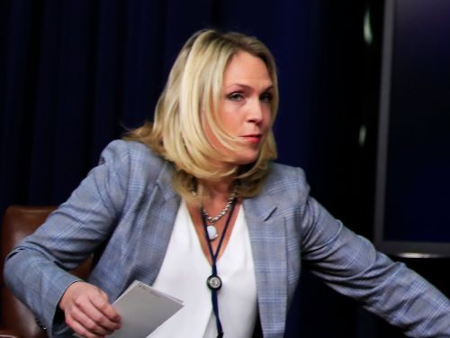 The White House staffer who insulted John McCain accused her boss of leaking to the press - right in front of Trump