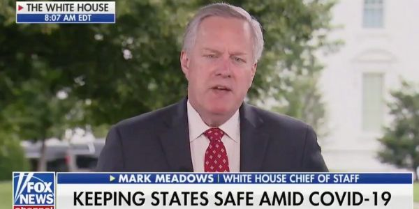 White House chief of staff Mark Meadows defends Trump's false claim that '99%' of coronavirus cases are 'harmless'
