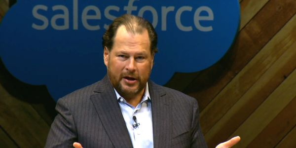 Salesforce falls 7% after confirming $27.7 billion Slack acquisition and forecasting slower growth