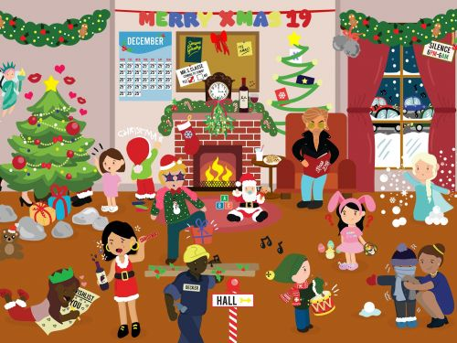 How many Christmas songs can you find hidden in this holiday brainteaser?