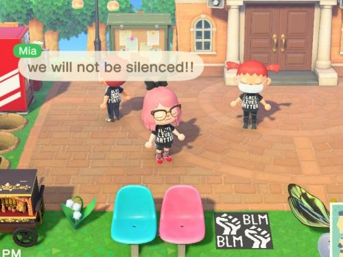 'Animal Crossing' users are wearing Black Lives Matter shirts, making signs, and organizing virtual protests